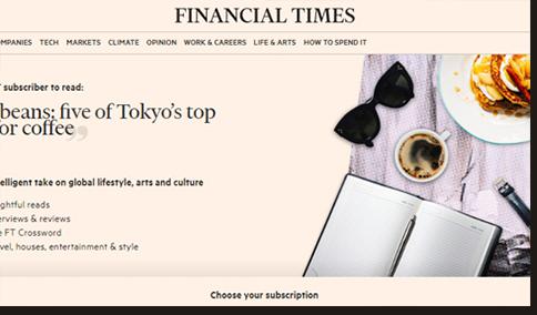 Financial Times (ft.com)に掲載されました。